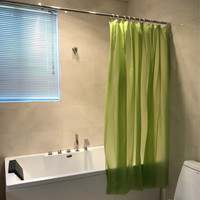 Green Plain Liner 0.03mm PEVA Waterproof and Mildew Proof For Bath Shower Curtain