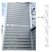 Aluminum Curtain Wall Louver Designs