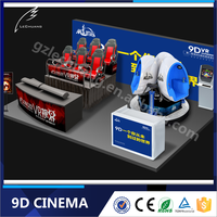 Lechuang Electronic Rotation Theme Park Shop Mall Game 9d Vr Simulator 9d Cinema Equipment