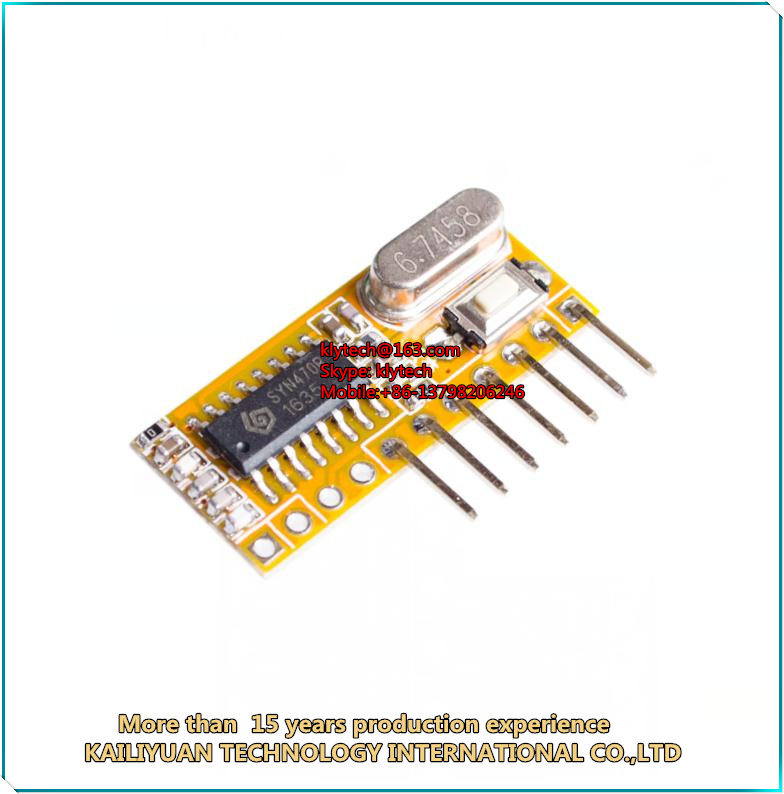 RXC6 433Mhz Superheterodyne Wireless Receiver PT2262 Code Steady /AVR Module With Learning Code Mode