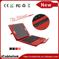 For iPad Ultrathin Bluetooth Keyboards With Detachable Leather Case bluetooth keyboard for iPad mini 2