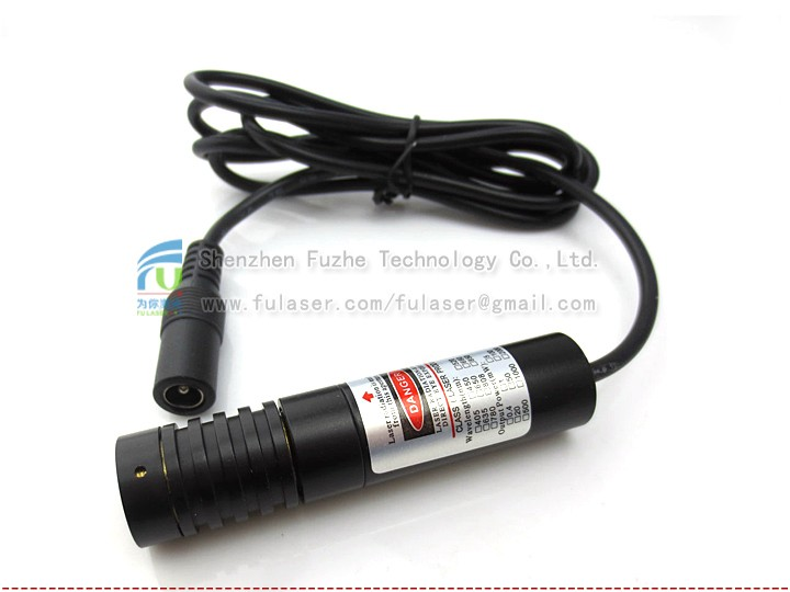 FU650AD200-GD16 16*70mm adjust and fixed focus 3V dot laser generator 200mw, class 3B