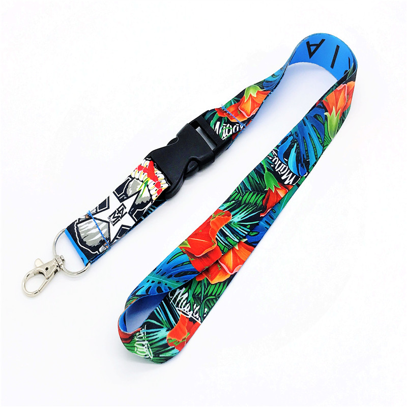 personalized made  necklace lanyard id badge holder with logo custom from china factory