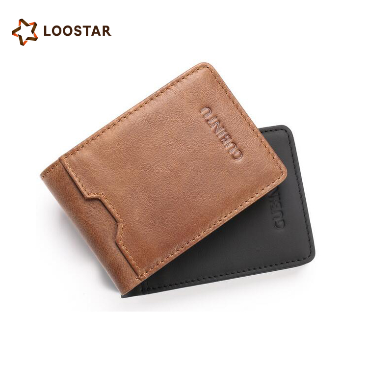 Wholesale RFID Genuine Leather Money Clip Slim Men <strong>Wallet</strong>