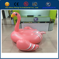 2016 ce certificate pvc 190cm large water pool toys / swimming pool toys /inflatable pink flamingo
