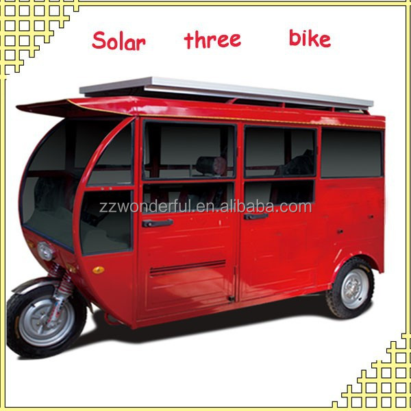 New arrival low consumption solar electric three wheeler for passenger