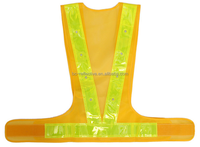 100% Polyester Mesh flashing LED safety vest