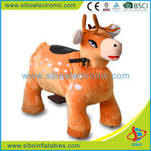GM59 sibo electronic kids plastic fence for electric ride on animals walking Plush Giraffe