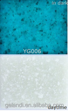 China Glow in dark Luminous Solid surface artificial stone slab