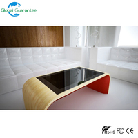 High quality touch table perfect for living room/Touch screen table with curved shell