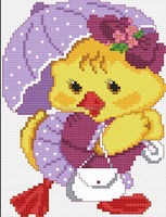 DUCK Counted 14CT DMC Cross Stitch DIY New Dimension Cross Stitch Kits for Embroidery Needlework Crafts