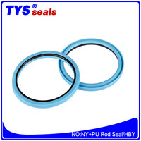 Rubber seal Mechanical Seal buff seal hby pu seal used in excavator parts hydraulic seals