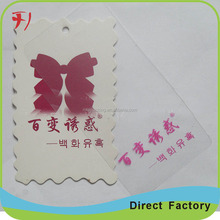 custom professional especial hang tag for skirt / dress in factory price