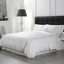 Bv Luxury Custom Queen King Satin Pure White 100% Cotton Bedsheet Bed Linen 5 Star Hotel Bedding <strong>Set</strong>