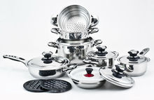 18 10 stainless steel solingen cookware set 16pcs swiss line