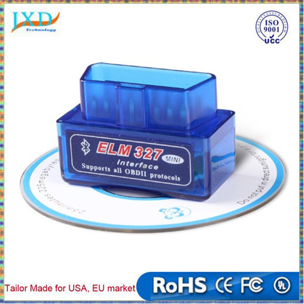 V2.1 Super Mini ELM327 Bluetooth Interface Works On Android Torque Bluetooth Elm 327 OBD2 OBD II Car Diagnostic Tool