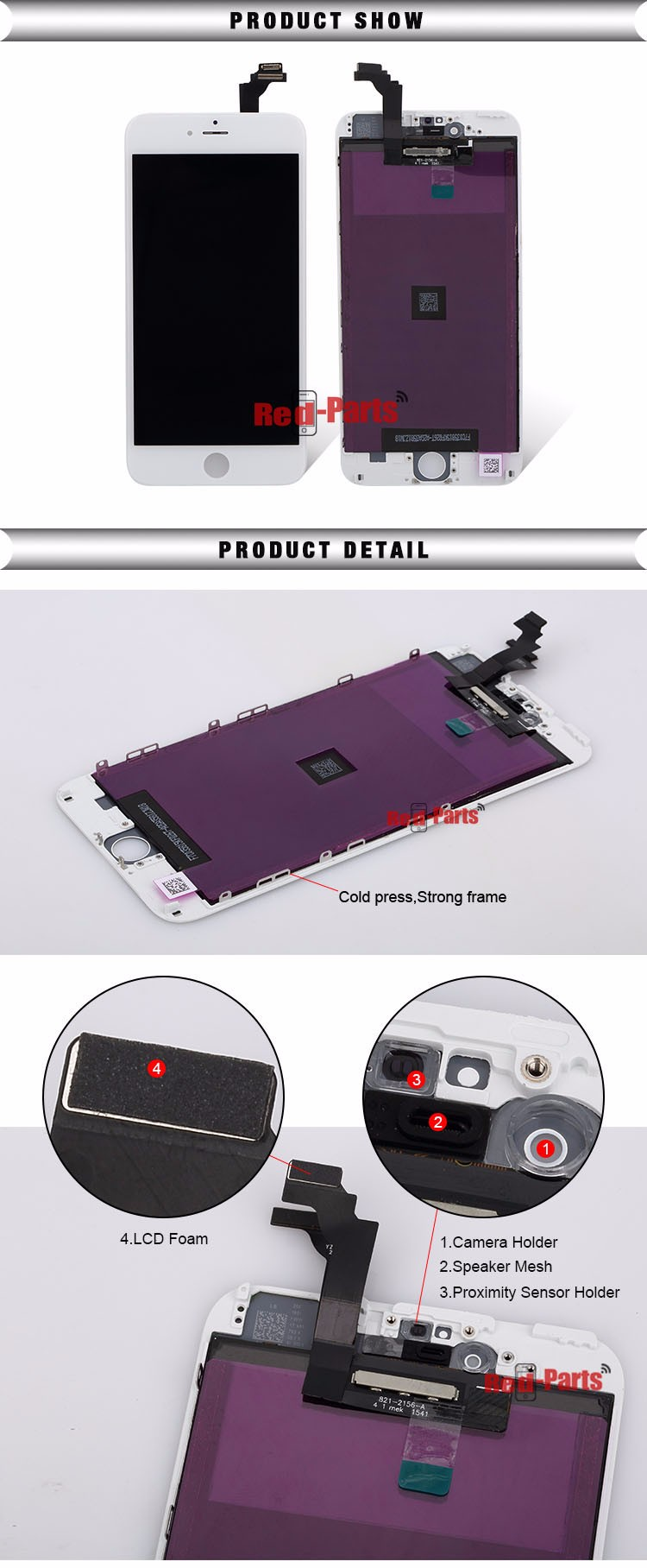 New Arrival Product Good Quality 12 Months Warranty Replacement Lcd Touch Screen For Iphone 6Plus