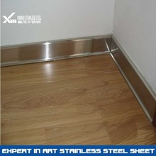Silver Brushed Decorative 304 Stainless Steel Skirting Boards