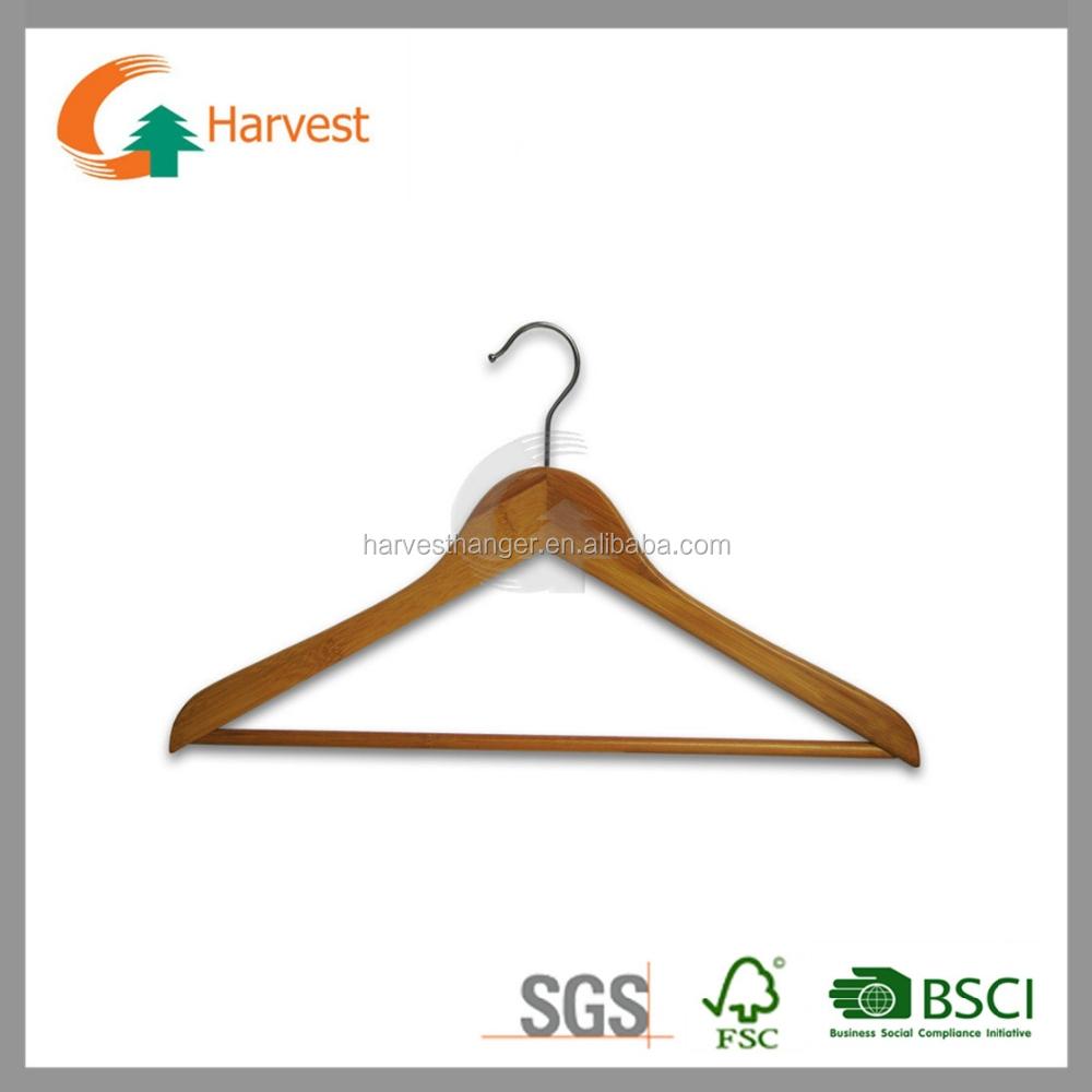 44 5 1 2 cm de bamb colgador de ropa con gancho y barra for Gancho colgador de ropa