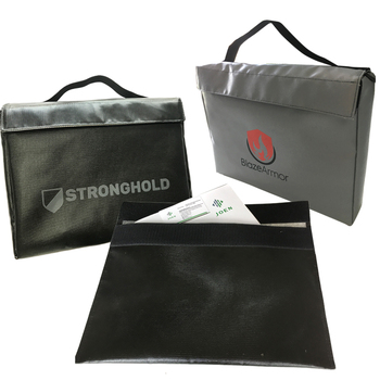 Silicone Coated Fiberglass Fireproof Bag For Documents