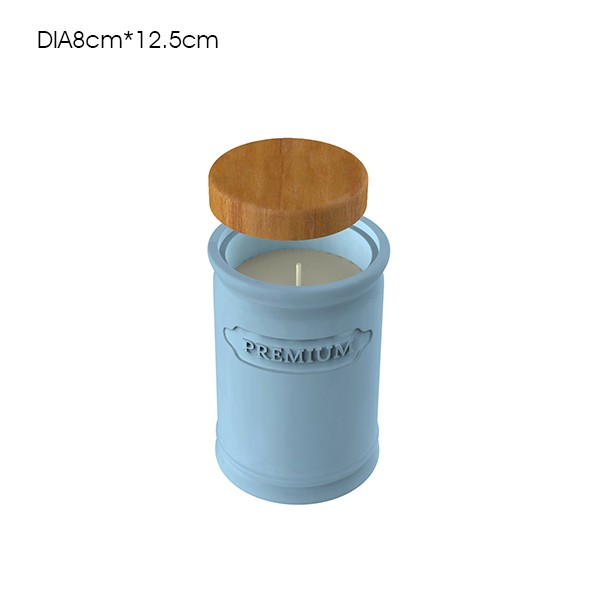 Colored bamboo airtight canister / storage jar