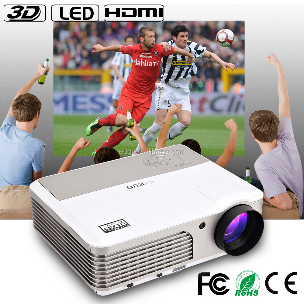 Original Factory Projector 2600lms for Education led beamer Projector Support Full HD video
