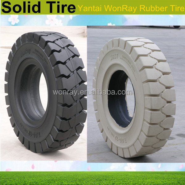 hot sale 28x9-15 white non marking solid forklift tire, colorful solid bicycle tires