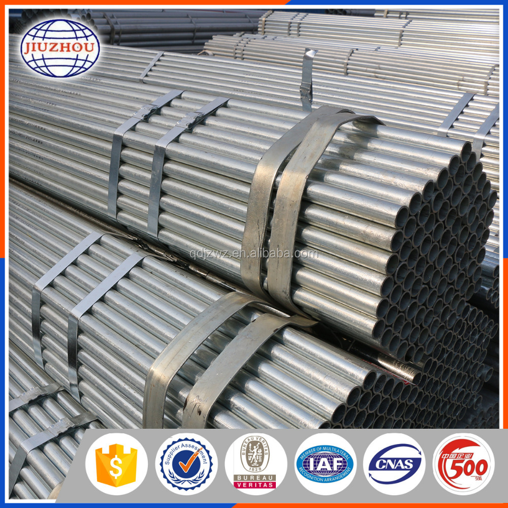 construction material hot dipped galvanized steel pipe China
