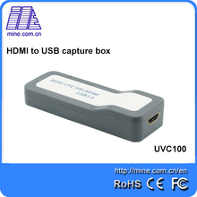 UVC USB Hdmi external evideo capture card 1080P Best solution for video conference game video capture support Linux and windows