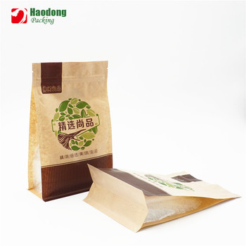 Hot Sale Products Customized Kraft Paper Box Pouch Food Packaging Bag