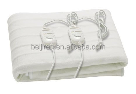 100% polyester Double Electric Blanket with two controllers