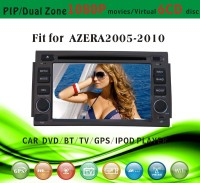 car dvd gps providers fit for Hyundai Azera 2005 - 2010 with radio bluetooth gps tv pip dual zone