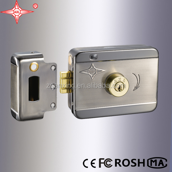 12V Intelligent Electric Lock with motor, LED and double separated cylinder