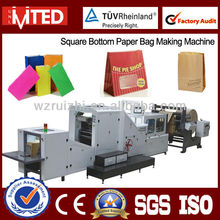Full Automatic Square Bottom Paper Bag Machine / Paper Bag without Handle / Food Paper Bag Machine