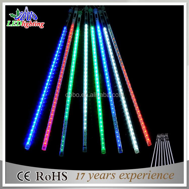 Tree Decorative shower rain tube lights 12V/110V/220V waterproof christmas led meteor shower light
