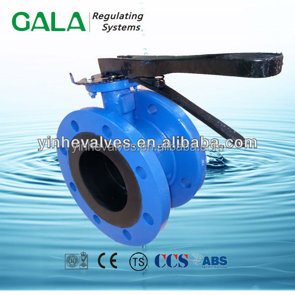 AWWA C504 Double Flanged Butterfly Valve With Casing