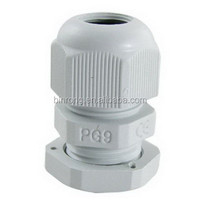 PG9 White Plastic Waterproof Cable Glands Joints