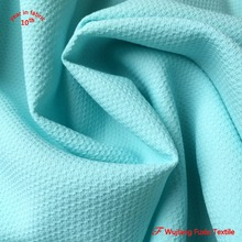 stretch yarn 100 polyester jacquard honeycomb fabric for lady wear