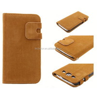 Squirrel pattern PU folio case with two straps for Samsung s3 PU leather mobile phone case