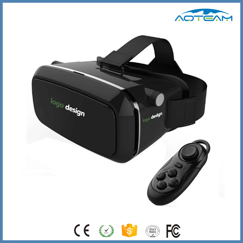 2016 Hot Selling VR Box 2.0 3D Glasses With Remote, 3D VR Case Remote