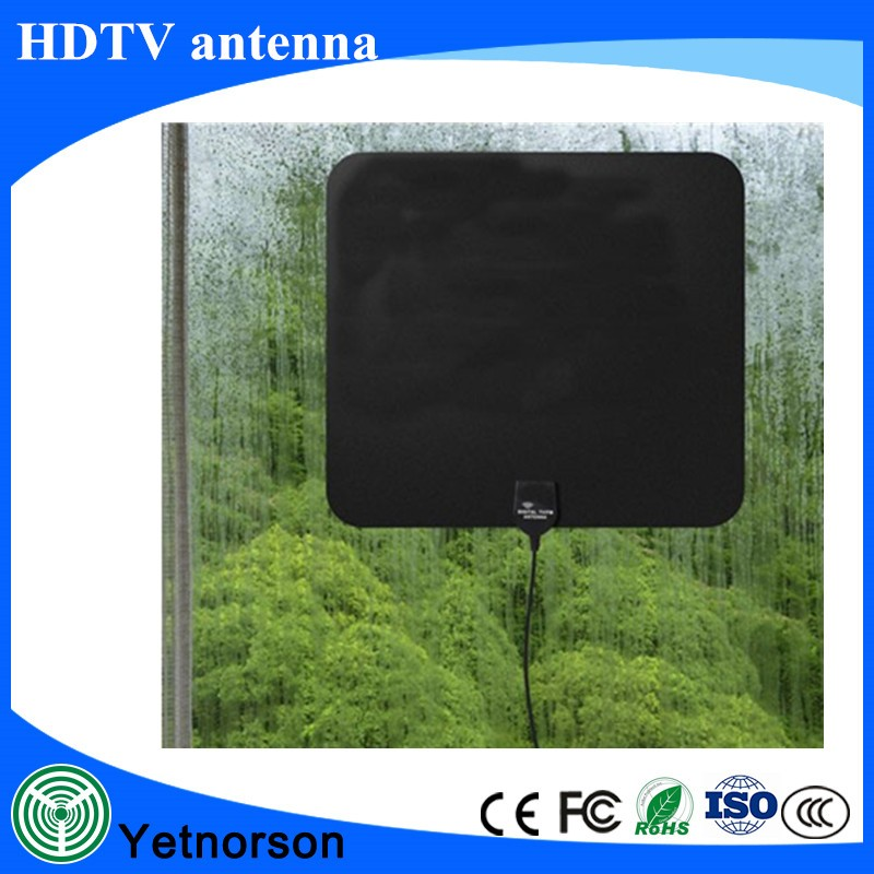 Manufacturer 470-860MHz HDTV Antenna Indoor Digital TV Antenna 50 Mile Range with Power Supply Amplifier for HDTV / DTV F