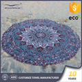 Wholesale royal standard circle extra large sand free printed custom round mandala microfiber beach towel
