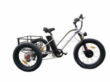 2017 3 wheel ebike Fashion 48V 500W Fat Tire Cargo Tricycle Three Wheel Electric Tricycle with Pedal
