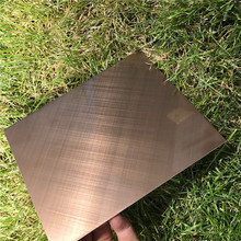 rose gold hairline stainless steel sheet for wall cladding