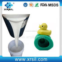 Pouring plastic toys mold making silicone rubber