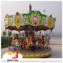 China amusement rides electric fiberglass christmas carousel horse merry go round for sale