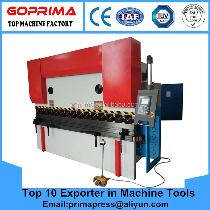 Top quality hydraulic Servo Hydraulic Press Brake/iron steel cnc Press Brake machine for sale