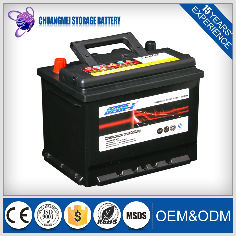 best discharging L2-400 MF 12V 60AH auto battery used to car starting