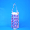 Wholesale promotional Eco-friendly Clear PVC plastic Wine Ice cooler Bag with Plastic Tube Handle
