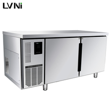 LVNI upright industrial commercial hotel restaurant kitchen under table bench counter deep freezer fridge refrigerator chiller